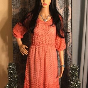 Umgee Whimsical Coral Dress
